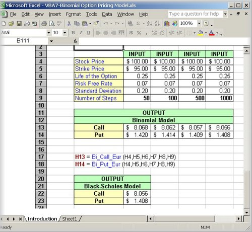 finnerty put option model excel